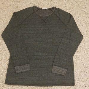 Alternative Greyish Long Sleeve Crew Neck T-Shirt